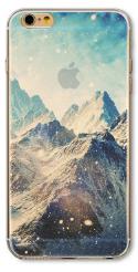 """Премиум силиконовый чехол """"Горы"""" для Iphone 6 6S"""