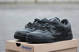 Модные зимние кроссовки Reebok черные на меху 46р