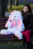 Большой зайка 120 см.Мягкая игрушка зайка.Игрушка кролик. Белый