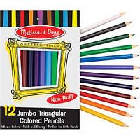 Цветные карандаши (12 цветов), Melissa&Doug