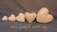 Сердце из пенопласта 7,5см