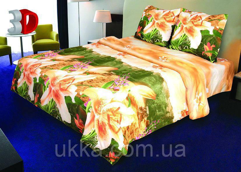 Двухспальное постельное белье 3D Микросатин Тамиана