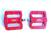 Педали FPD 393 со съемными шипами, на пром подшипниках (красные)
