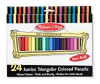 Цветные карандаши (24 цвета), Melissa&Doug