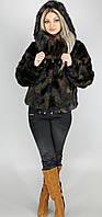 Шуба женская искусственная коричневая норка  М-121 42-54 размеры