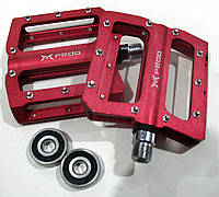 Педали Mpeda 503 на пром подшипниках со съемными шипами, красные