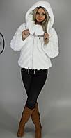 Шуба женская искусственная белая норка  М-121 42-54 размеры