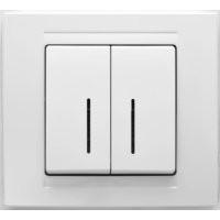 Gunsan Moderna Выключатель двухклавишный с подсветкой белый