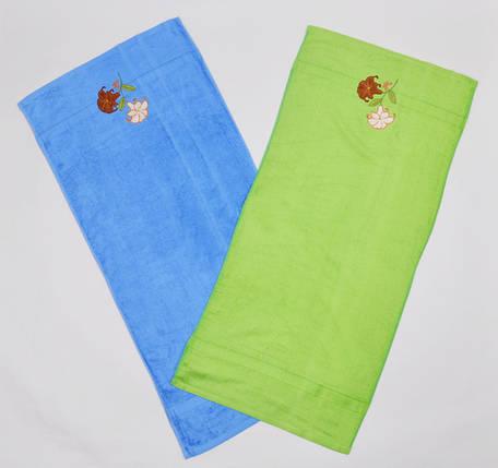 "Махровое полотенце ""Два цветка"" (арт. V1099), фото 2"