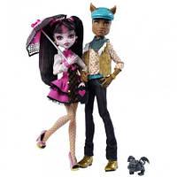 Набор кукол Монстер Хай Дракулаура и Клод Вульф Monster High Draculaura And Clawd Wolf Doll Giftset
