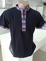 Чоловіча футболка вишиванка чорна №19