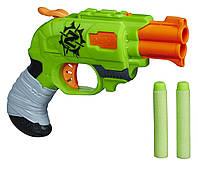 Nerf Бластер Зомби Страйк Двойной Удар Zombie Strike Doublestrike Blaster эко упаковка A6562