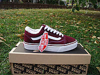 "Зимние кеды унисекс VANS Old Skool bordo ""Бордовые"" р. 5-11 (36-45)"