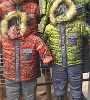 Детские теплые комбинезоны с подстежкой-овчинка для мальчиков 1-5 лет теплющие