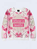 СВИТШОТ DIFFERENT IS BEAUTIFUL; XXS, XS, S, M, L, XL, фото 1