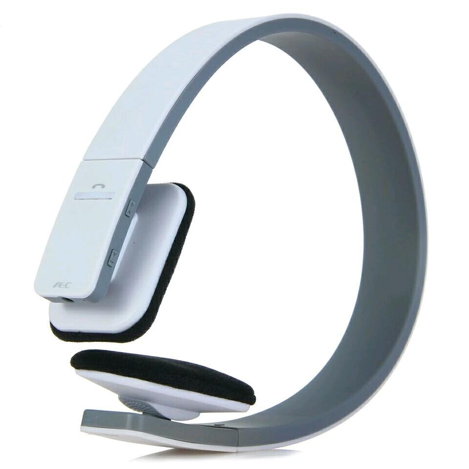 Наушники блютуз Bluetooth V4.1 + EDR AEC с поддержкой Handsfree и голосовой навигацией белые BQ-618