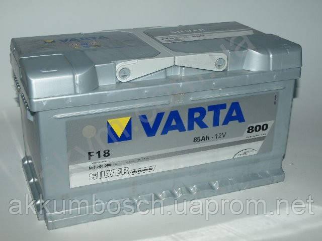 Аккумулятор автомобильный Varta SILVER dynamic 85/Ah - интернет-магазин accumulator.net.ua в Киеве