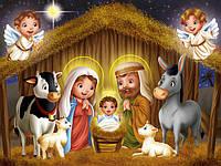 Вафельная картинка Рождество ясли