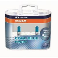 Лампочки H3 OSRAM HYPER BLUE 62151CBHDUO H3 12V 70W 5000K PK22S cool blue hyper