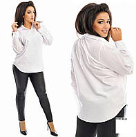 Рубашка женская белая бат 03366 мила