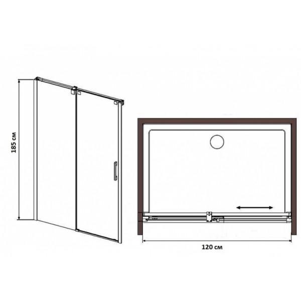 eger Душевые двери Eger 120 см 599-153
