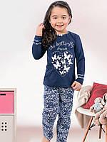 Детская пижама (кофта и брюки)  (Синий)