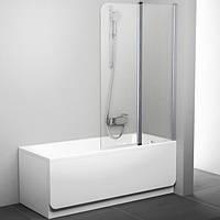 Шторка для ванны Ravak 100 см CVS2-100 L белый+transparent 7QLA0100Z1