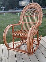 """Кресло-качалка """"Королевское"""" с подставкой для ног"""