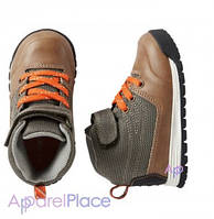 Carter's Ботинки коричневые на оранжевом шнурке