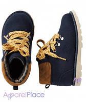 Carter's Ботинки темно-синие с желтым шнурком