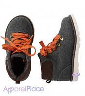 Carter's Ботинки серые с оранжевым шнурком