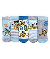 Детские носочки для мальчика (5 пар). 3-6 месяцев
