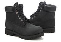 Ботинки зимние Timberland черные