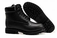 Ботинки Timberland черные кожаные