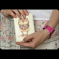 """Обложка для паспорта """"Сладкоежки"""" + блокнотик"""