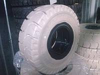 Шины для погрузчиков белые цельнолитые, размер 18Х7-8