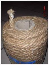 Канат льняной диаметр 18 мм трехпрядный ГОСТ, фото 3