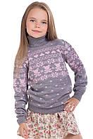 """Детский шерстяной свитер """"Степашка"""", цвет серый"""