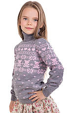 """Детский шерстяной свитер """"Степашка"""", цвет серый, фото 2"""