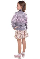 """Детский шерстяной свитер """"Степашка"""", цвет серый, на рост 104 см, фото 3"""