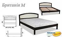 Кровать деревянная двуспальная ART- Британия (мягкое изголовье) (1600х2000)