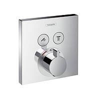 Термостат Hansgrohe ShowerSelect с двумя запорными вентилями, СМ, фото 1