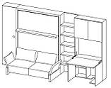 Комплект мебели-трансформер на базе модуля NUOVOLIOLA' 10, фото 5
