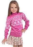 """Детский шерстяной свитер """"Степашка"""", цвет светлый клевер,"""