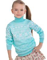 """Детский шерстяной свитер """"Степашка"""", цвет бирюза,"""