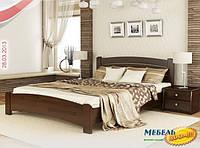 Кровать Венеция Люкс ESТ-180х200   (Бук (щит))