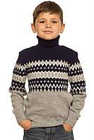 """Детский шерстяной свитер """"Геометрия"""", для мальчика - оптом"""