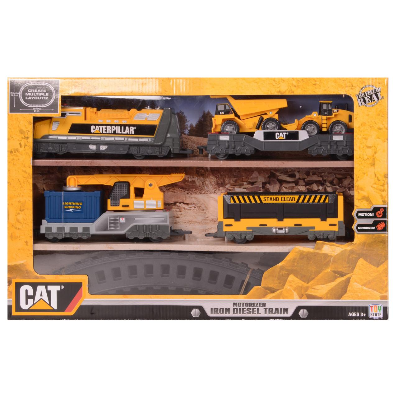 "Железная дорога «Toy State» (55450) железная дорога CAT ""Дизельный тепловоз"""