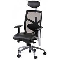 Офисное кресло EXACT BLACK LEATHER, BLACK MESH