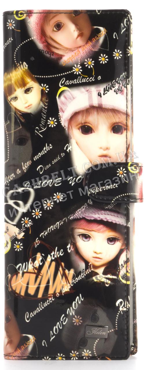 Оригинальная оригинальная вместительная визитница лаковая кожа Helen art. 2477-C21 черного цвета